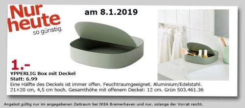 IKEA Bremerhaven - YPPERLIG Box mit Deckel, grün - jetzt 86% billiger
