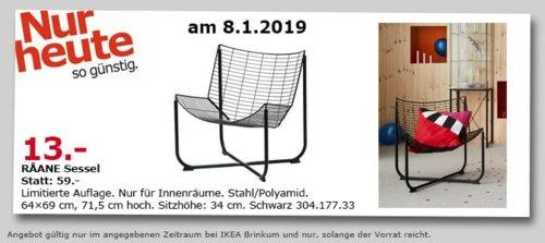 IKEA Brinkum - RAANE Sessel, schwarz - jetzt 78% billiger