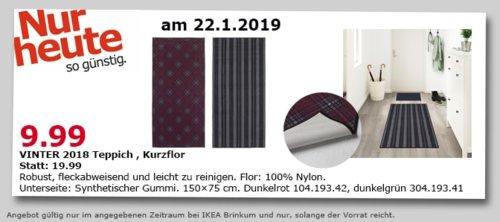 IKEA Brinkum - Vinter 2018 Teppich, 150x75 cm - jetzt 50% billiger