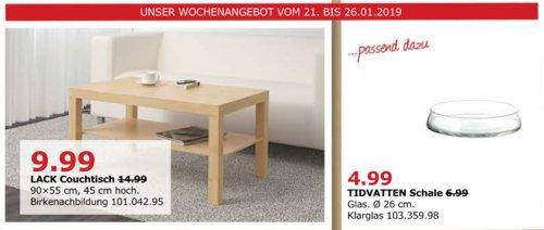 IKEA Düsseldorf - LACK Couchtisch, Birkenachbildung - jetzt 33% billiger