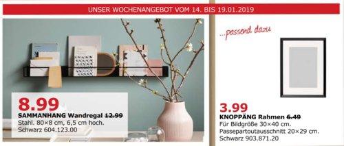 IKEA Düsseldorf - SAMMANHANG Wandregal, 80 cm, schwarz - jetzt 31% billiger