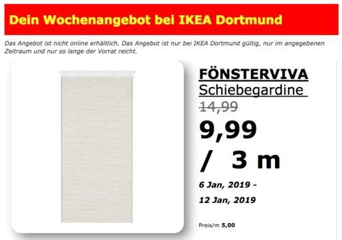IKEA Dortmund - FÖNSTERVIVASchiebegardine - jetzt 33% billiger