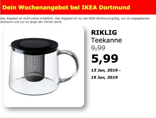 IKEA Dortmund - RIKLIG Teekanne, 1,5 Liter - jetzt 40% billiger