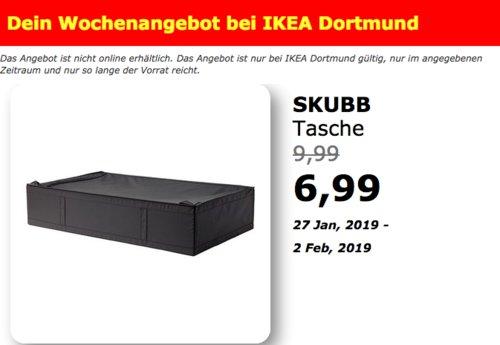 IKEA Dortmund - SKUBB Tasche, schwarz - jetzt 30% billiger