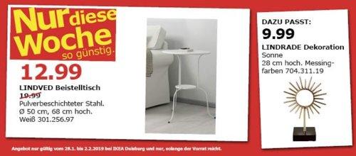 IKEA Duisburg - LINDVED Beistelltisch, weiß - jetzt 35% billiger