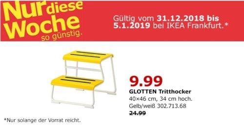 IKEA Frankfurt - GLOTTEN Tritthocker, gelb - jetzt 60% billiger