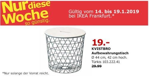 IKEA Frankfurt - KVISTBRO Aufbewahrungstisch, Türkis - jetzt 37% billiger