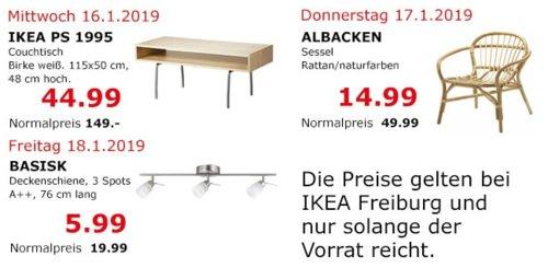 IKEA Freiburg - PS 1995 Couchtisch, Birke weiß - jetzt 70% billiger