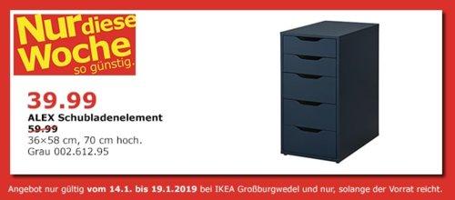IKEA Großburgwedel - ALEX Schubladenelement, grau - jetzt 33% billiger