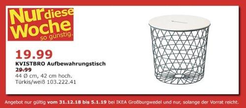 IKEA Großburgwedel - KVISTBRO Aufbewahrungstisch, Türkis/weiß - jetzt 33% billiger