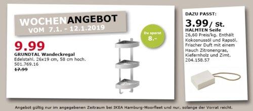 IKEA Hamburg-Moorfleet - GRUNDTAL Wandeckregal, Edelstahl - jetzt 44% billiger
