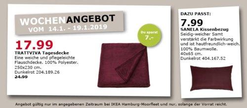 IKEA Hamburg-Moorfleet - TRATTVIVA Tagesdecke, dunkelrot - jetzt 28% billiger