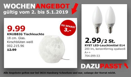 IKEA Hamburg-Schnelsen - KNUBBIG Tischleuchte, 18 cm, weiß - jetzt 23% billiger
