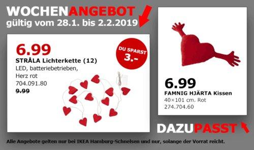 IKEA Hamburg-Schnelsen - STRALA LED-Lichterkette (12), Herz rot oder weiß - jetzt 30% billiger