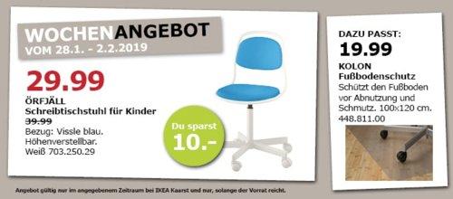 IKEA Kaarst - ÖRFJÄLL Schreibtischstuhl für Kinder, weiß/blau - jetzt 25% billiger