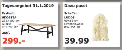 IKEA Kaiserslautern - SKOGSTA Esstisch - jetzt 40% billiger