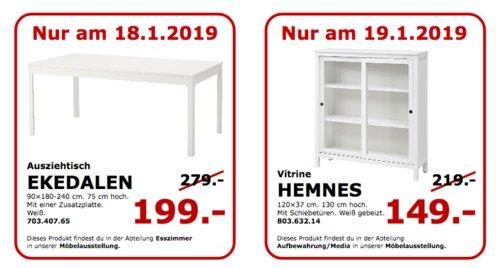 IKEA Koblenz - EKEDALEN Ausziehtisch, weiß - jetzt 29% billiger