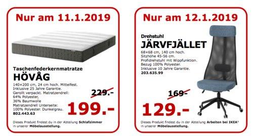 IKEA Koblenz - HÖVAG Taschenfederkernmatratze, 140x200 cm, 24 cm hoch - jetzt 9% billiger