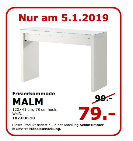IKEA Koblenz - MALM Frisierkommode, weiß - jetzt 20% billiger