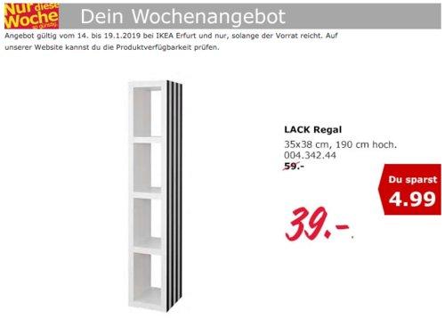 IKEA Erfurt - LACK Regal, 35x190 cm, schwarz/weiß - jetzt 34% billiger