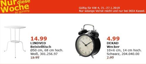 IKEA LINDVED Beistelltisch, weiß - jetzt 25% billiger