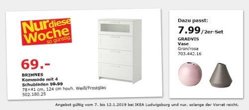 IKEA Ludwigsburg - BRIMNES Kommode mit 4 Schubladen - jetzt 31% billiger