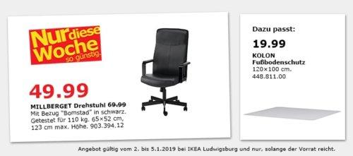 IKEA Ludwigsburg - MILLBERGET Drehstuhl, schwarz - jetzt 29% billiger
