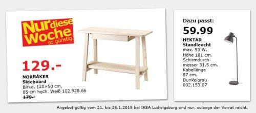 IKEA Ludwigsburg - NORRAKER Sideboard, weiß - jetzt 28% billiger