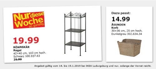 IKEA Ludwigsburg - RÖNNSKÄR Regal, schwarz - jetzt 20% billiger