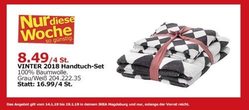 IKEA Magdeburg - VINTER 2018 Handtuch-Set, grau/weiß - jetzt 50% billiger