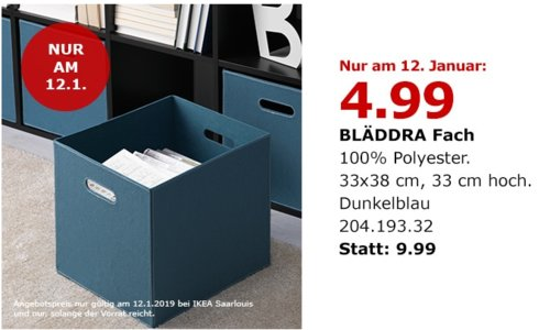 IKEA Saarlouis - BLÄDDRA Fach, dunkelblau - jetzt 50% billiger