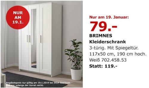 ikea saarlouis brimnes kleiderschrank w f r 79 00. Black Bedroom Furniture Sets. Home Design Ideas