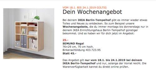 IKEA SEMUND Regal,Birkenachbildung - jetzt 44% billiger