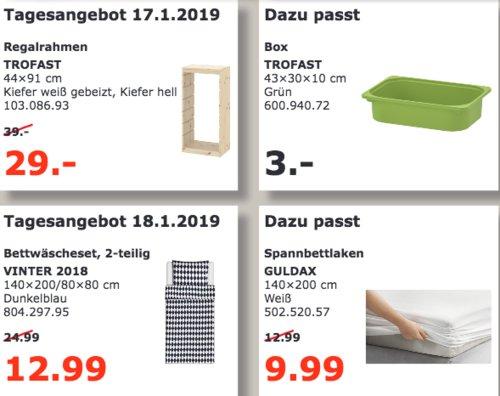 IKEA TROFAST Regalrahmen, 44x91 cm, Kiefer weiß gebeizt - jetzt 26% billiger