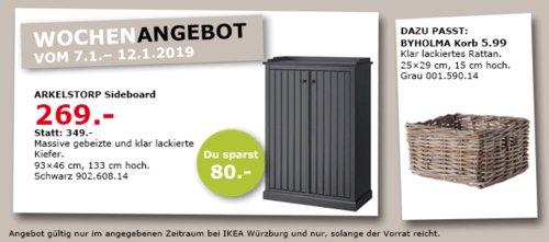IKEA Würzburg - ARKELSTORP Sideboard, schwarz - jetzt 23% billiger