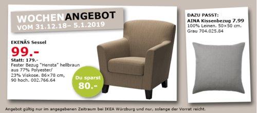 IKEA Würzburg - EKENÄS Sessel, hellbraun - jetzt 45% billiger