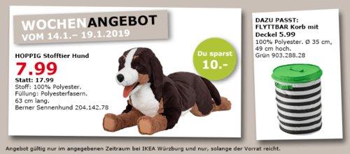 IKEA Würzburg - HOPPIG Stofftier, Hund - jetzt 56% billiger