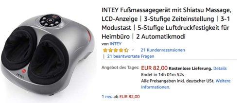 INTEY TO-GJ-040 Fußmassagegerät mit Shiatsu Massage - jetzt 15% billiger