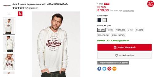 """Jack & Jones Kapuzensweatshirt """"BRANDED SWEAT"""" - jetzt 20% billiger"""