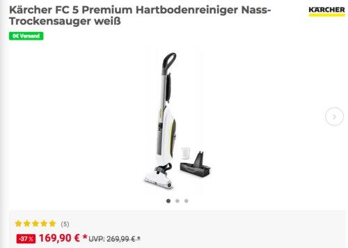 Kärcher FC 5 Premium Hartbodenreiniger, Nass-Trockensauger - jetzt 8% billiger