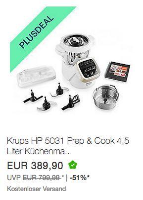 Krups HP 5031 Prep & Cook 4,5 Liter Küchenmaschine - jetzt 10% billiger