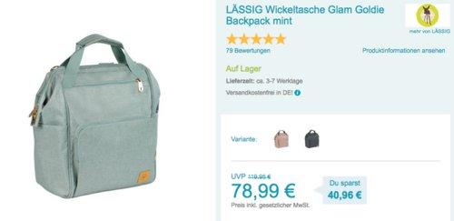 LÄSSIG Wickeltasche/Wickelrucksack Glam Goldie - jetzt 7% billiger