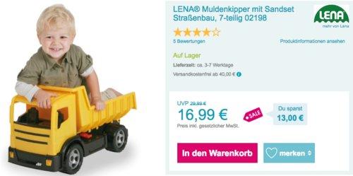 LENA® 02053 Muldenkipper inkl. 'Happy Sand' Sandset - jetzt 27% billiger
