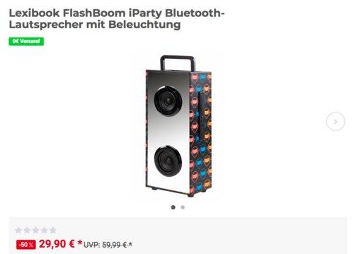 Lexibook FlashBoom iParty BTL600 Bluetooth-Lautsprecher mit Beleuchtung - jetzt 29% billiger