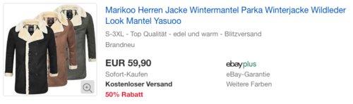 """Marikoo Herren Wintermantel """"Yasuoo"""" - jetzt 25% billiger"""