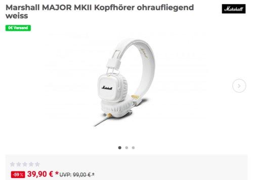Marshall MAJOR MKII Kopfhörer, weiß - jetzt 33% billiger