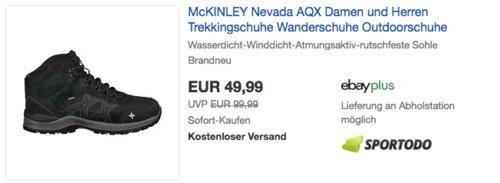 McKinley Nevada AQX Damen oder Herren Multifunktionsschuh (Trekking, Wandern, Outdoor) - jetzt 17% billiger