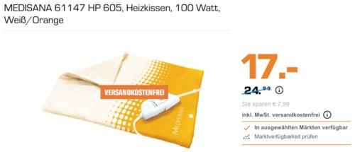 MEDISANA 61147 HP 605 Heizkissen, Weiß/Orange - jetzt 29% billiger
