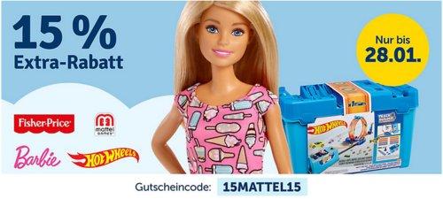 myToys - 15 % Rabatt auf Artikel der Marke Mattel: z.B.  Mattel Fisher-Price Baby Gear - Meine erste Toilette - jetzt 11% billiger