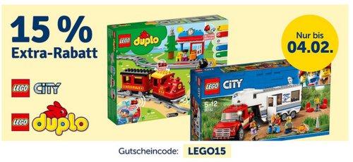 myToys.de 15% Extra-Rabat auf LEGO City oder LEGO Duplo: z.B. LEGO 60141 City: Polizeiwache - jetzt 14% billiger